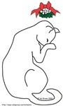 Shy Mistletoe Cat