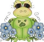 Fun Frog & Flowers