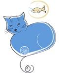 CAT & FISH - Blue
