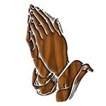Praying Hands Dark Wood
