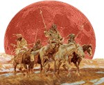 Indian Hunting Party Blood Moon