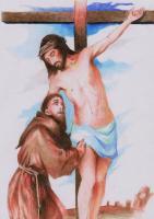 St Francis Embraces Jesus #3
