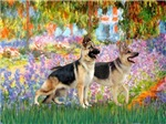 GARDEN AT GIVERNEY<br>& Two German Shepherds