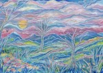 Pastel Country A <From an Encaustic Paintings)