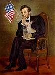ABRAHAM LINCOLN<br>& Fawn French Bulldog