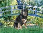 LILY POND BRIDGE<br>& Australian Shepherd
