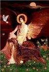 SEATED ANGEL<br>& Irish Setter