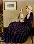 WHISTLER'S MOTHER<br>& Wire Fox Terrier