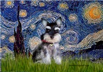 STARRY NIGHT<br>Miniature Schnauzer (cropped ears)