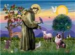 Saint Francis with<br>Australian Shepherd (#1)