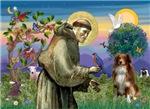 Saint Francis with an<br>Australian Shepherd (RW4)