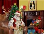 SANTA AT HOME<br> & Wheaten Terrier #7