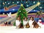 CHRISTMAS MAGIC<br>& 3 Shetland Sheepdogs