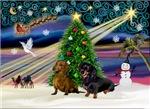 CHRISTMAS MAGIC<br>& Two Dachshunds (BB)