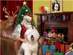 SANTA AT HOME<br>& Old English Sheepdog