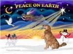 CHRISTMAS SUNRISE<br>& Golden Retriever