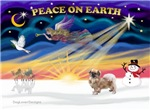 CHRISTMAS SUNRISE<br>& Tibetan Spaniel