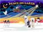 CHRISTMAS SUNRISE<br>& 2 Old English Sheepdogs