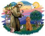 St. Francis #2 &<br>Standard Poodle (apricot)