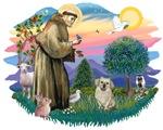 St. Francis #2 &<br> Tibetan Spaniel (fawn)