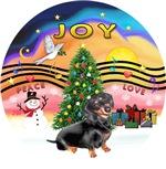 CHRISTMAS MUSIC #2<br>Black/Tan Dachshund