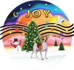 CHRISTMAS MUSIC #2<br>Brown & White Chihuahua