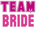 Pink Team Bride T-shirts, Clothes, Gifts