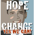 Obama Yes We Can Mugs, Stickers, Buttons