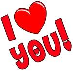 I Love You T-shirts, Sweatshirts, Gifts