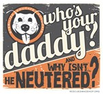 Who's Your Daddy Retro w/Grey Background