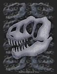 allosaurus skull fossil