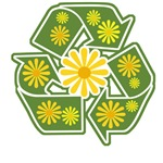 Floral Recycle Sign T-Shirts & Gifts