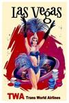 TWA Fly to Las Vegas Vintage Print