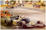 Monaco Vintage 1977 Grand Prix Auto Racing Adverti