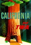 TWA Fly to California Print