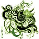 OYOOS Green Flower design