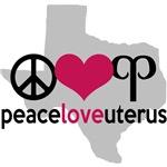 Peace Love Uterus in Texas