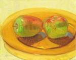 Two Apples on Amber