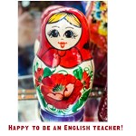 Happy to be an English teacher!