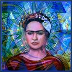 Cubist Frida Blue