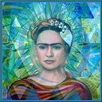Cubist Frida Turquesa