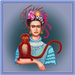 3.Frida with Red Monkey