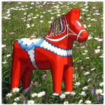 Dala Horse in Flowers