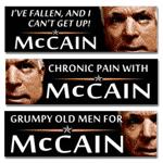 Senior Citizen McCain - Personal Attack Bumpers