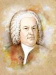 Johann Sebastian Bach, watercolor style