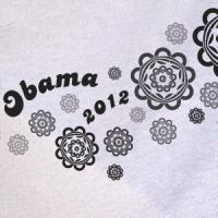 Obama Logo Hawaiian Flowers