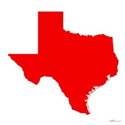Red Texas Outline