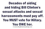 Hillary helped Bill's Sexual Attacks