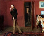 Robert Louis Stevenson and his wife by John Singer