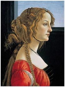 Portrait of Simonetta Vespucci (Horizontal flip)